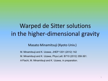 Warped de Sitter solutions in the higher-dimensional gravity