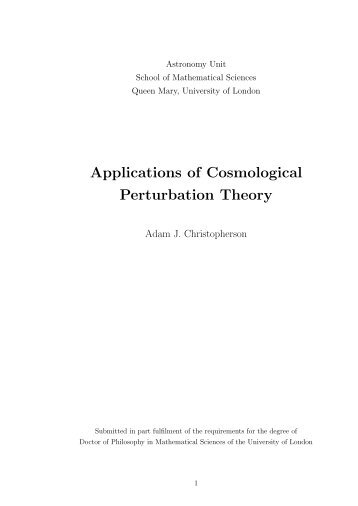 Applications of Cosmological Perturbation Theory.pdf