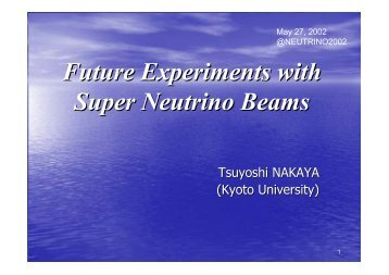 Future Experiments with Super Neutrino Beams