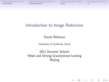 Introduction to Image Reduction