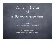 Current Status of the Borexino experiment