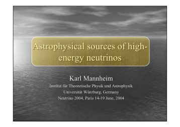 Astrophysical sources of high- energy neutrinos
