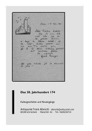 Hans Sahl Ein Briefwechsel - Antiquariat Frank Albrecht