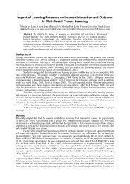 Impact of Learning Presence on Learner Interaction and Outcome in ...
