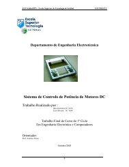 Sistema de Controlo de Potência de Motores DC - Instituto ...