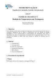 INSTRUMENTAÇÃO II Medição de Temperatura com Termopares