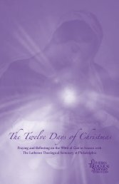 The Twelve Days of Christmas - Lutheran Theological Seminary at ...