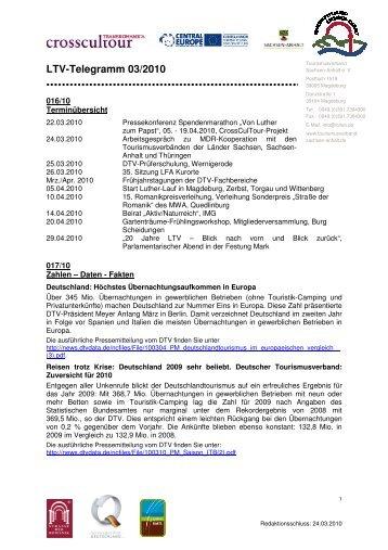 LTV-Telegramm 03/2010 - Tourismusverband Sachsen-Anhalt