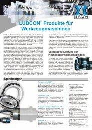 LUBCON Produkte fuer Werkzeugmaschinen - Lubricant Consult ...