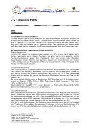 LTV-Telegramm 4/2008 - Tourismusverband Sachsen-Anhalt