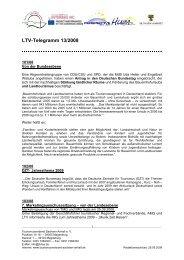 LTV-Telegramm 13/2008 - Tourismusverband Sachsen-Anhalt
