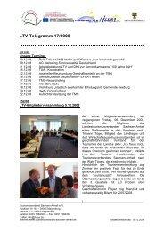 LTV-Telegramm 17/2008 - Tourismusverband Sachsen-Anhalt