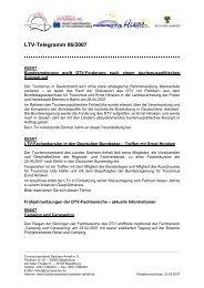 LTV-Telegramm 06/2007 - Tourismusverband Sachsen-Anhalt