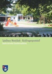 Spielhaus Wandsbek - Rückfragenprotokoll - luchterhandt
