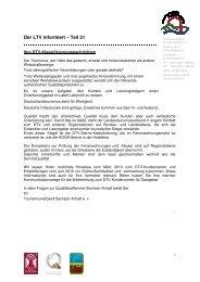 Der LTV informiert 31 - Tourismusverband Sachsen-Anhalt