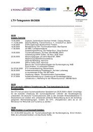 LTV-Telegramm 09/2009 - Tourismusverband Sachsen-Anhalt