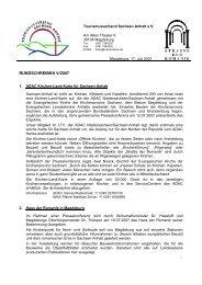 Romanikrundschreiben 05/2007 - Tourismusverband Sachsen-Anhalt