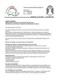 Romanikrundschreiben 08/2008 - Tourismusverband Sachsen-Anhalt