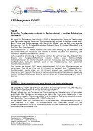 LTV-Telegramm 13/2007 - Tourismusverband Sachsen-Anhalt
