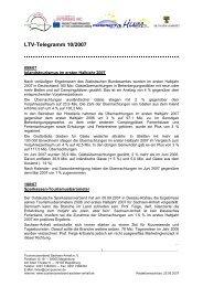 LTV-Telegramm 10/2007 - Tourismusverband Sachsen-Anhalt