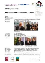 LTV-Telegramm 05/2010 - Tourismusverband Sachsen-Anhalt