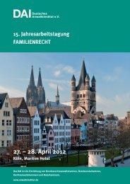 27. – 28. April 2012 - Deutsches Anwaltsinstitut eV