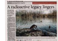 A radioactive legacy lingers
