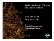 Addressing Energy Efficiecy and Growth in China