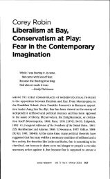 Corey Robin Liberalism at Bay, Conservatism at Piay: Fear in the ...