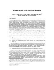 Accounting for Voice Mismatch in Ellipsis - University of Chicago
