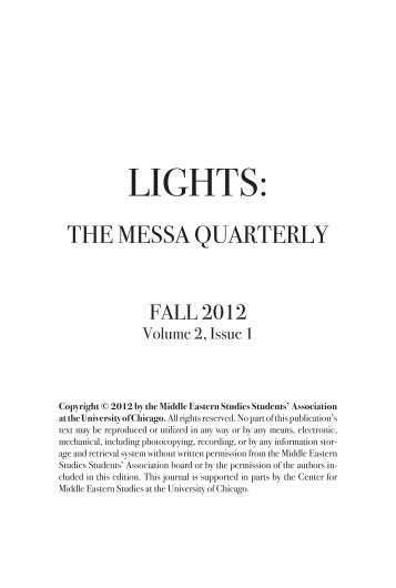 Volume 2, Issue 1, Fall 2012 - Humanities Blogs - University of ...