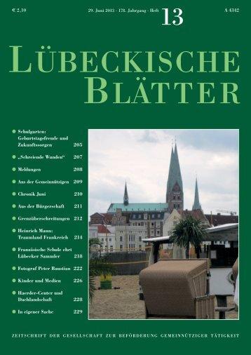13_LB178.pdf - Lübeckische Blätter