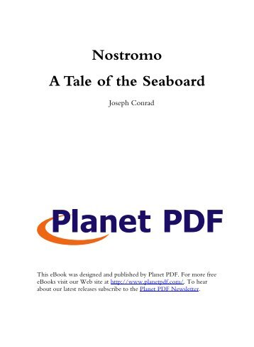 Nostromo A Tale of the Seaboard - A Kabbalist walks into a bar, and ...