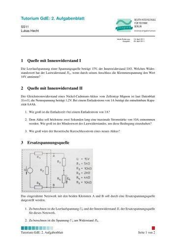 Tutorium GdE: 2. Aufgabenblatt 1 Quelle mit ... - lukashecht.de