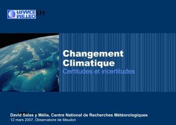 Les projections du changement climatique - LUTH