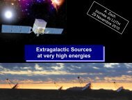 Extragalactic Sources at very high energies Extragalactic ... - LUTh