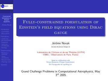 Fully-constrained formulation of Einstein's field equations using ...