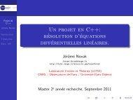 Un projet en C++ - LUTH - Observatoire de Paris