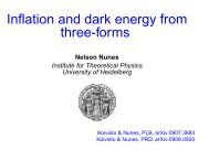 Inflation and dark energy from three-forms - LUTH