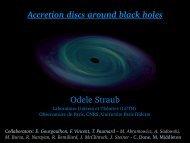 Accretion discs around black holes Odele Straub - LUTH ...