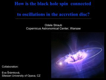 How is the black hole spin connected to oscillations in the ... - LUTH
