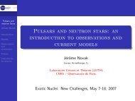 Pulsars and neutron stars - LUTH - Observatoire de Paris