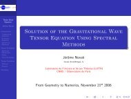 Numerical study of gravitational wave evolution in conformal 3+1 ...