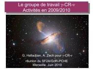 Le groupe de travail γ-CR-ν Activités en 2009/2010 - LUTH ...