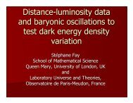 Distance-luminosity data and baryonic oscillations to test dark ...