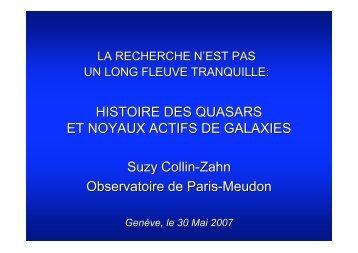 HISTOIRE DES QUASARS ET NOYAUX ACTIFS DE GALAXIES ...