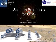 Science Prospects for CTA - LUTH