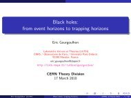 Black holes: from event horizons to trapping horizons - LUTH ...