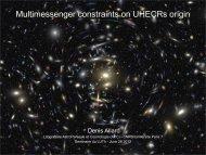 Multimessenger constraints on UHECRs origin - LUTH