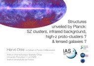 Structures unveiled by Planck: SZ clusters, infrared ... - LUTH